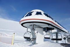 Ski lift station Royalty Free Stock Images