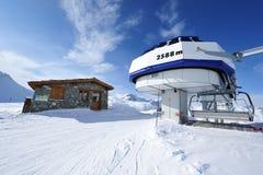 Ski lift station Royalty Free Stock Image