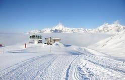 Ski lift station Stock Photography