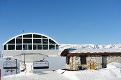 Ski lift station Stock Photo
