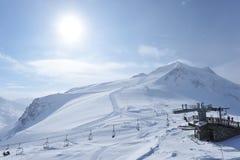Ski lift station Stock Image