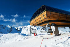 Ski lift station Royalty Free Stock Image