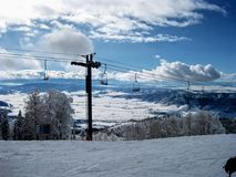Ski Lift. In Steamboat Springs, Colorado stock photography