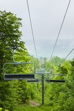 Ski lift in summer, Collingwood, Ontario, Canada. COLLINGWOOD, ON, CANADA - JUNE 18: Chairlift closed in summer at Blue Mountain Ski Resort, 2014 Royalty Free Stock Photography