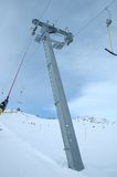 Ski lift support Royalty Free Stock Images