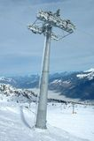 Ski lift support Royalty Free Stock Photo