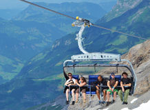 Ski-lift switzerland Stock Photos