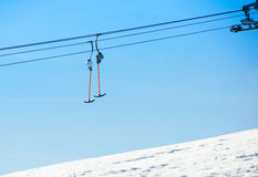 Ski lift system Stock Image