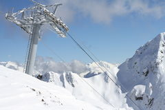 Ski lift technology Royalty Free Stock Photography