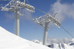 Ski lift technology Stock Images