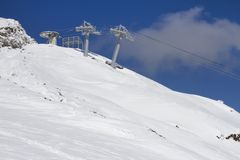 Ski lift technology Royalty Free Stock Photos