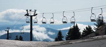 Ski lift. At timberline lodge at Mt Hood, Oregon Royalty Free Stock Images