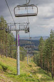 Ski lift on on the top of mountain 5 Stock Images