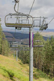 Ski lift on on the top of mountain 4 Royalty Free Stock Image