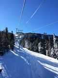Ski lift up Royalty Free Stock Photo
