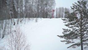 Ski Lift vazio está movendo-se video estoque