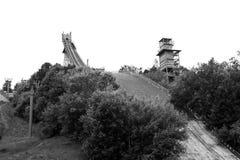 Ski lift on Vorobyovy Gory Stock Images