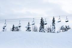 Ski-lift vuoto Immagine Stock Libera da Diritti