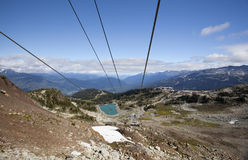 Ski lift at whistler mountain Stock Photography
