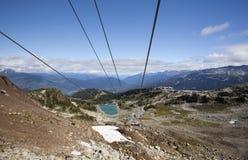 Ski lift at whistler mountain Stock Photography
