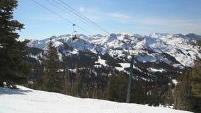 Ski Lift Wide stock footage