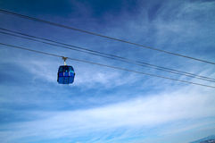 Ski lift at winter resort Stock Images