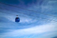 Ski lift at winter resort Stock Images