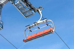 Ski lift. Winter ski resort ski lift Stock Images