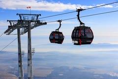 Ski lift on winter resort Stock Photo