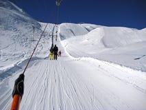 Ski Lift Winter Switzerland Images stock