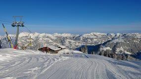 Ski lift on the Wispile Stock Photo