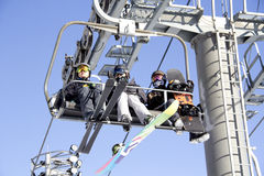 Ski Lift In Yong Pyong Corée Photographie stock libre de droits