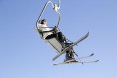 Ski Lift In Yong Pyong Korea Arkivfoto