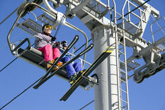 Ski Lift In Yong Pyong Korea Stock Image