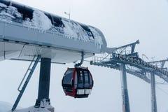 Ski lift in Zillertal Arena ski resort in Tyrol Austria. Ski lift in Zillertal Arena ski resort in Zillertal in Tyrol. Mayrhofen in Austria in winter in Alps stock photo