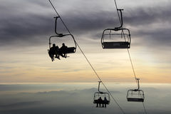 Ski lift1 Royalty Free Stock Photography