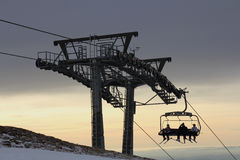 Ski lift2 Royalty Free Stock Photo