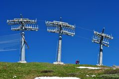 Ski lifts Royalty Free Stock Photos