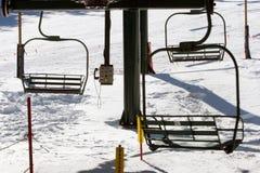 Ski lifts Royalty Free Stock Image