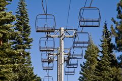 Ski Lifts Royalty Free Stock Image