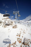 Ski lifts in Alpe d'Huez Stock Photography