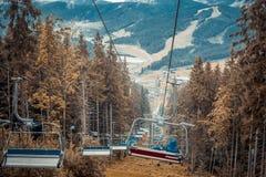 Ski lifts Royalty Free Stock Photo