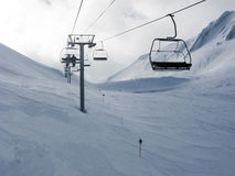 Ski lifts Stock Photography