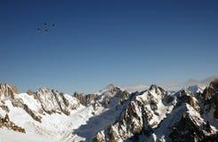 Ski lifts in Chamonix Stock Image