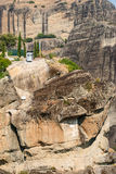 Ski lifts at the monastery at Meteora in Greece Stock Image