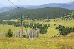 Ski lifts of Mount Tiyahty. Sports complex Stock Photography