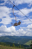 Ski lifts in the mountains Royalty Free Stock Photography
