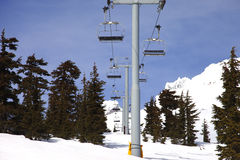Ski lifts on Mt. Hood Oregon. Stock Photography
