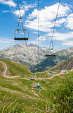 Ski Lifts in Panticosa, Spain Royalty Free Stock Photography