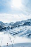 The ski lifts in shahdag mountain skiing resort Stock Photos